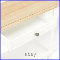Vintage White Console Table Large Antique Sideboard Solid Wood Hall Storage Unit