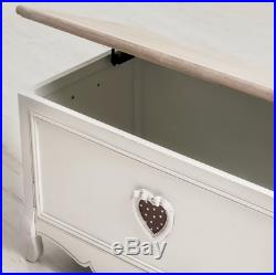 Vintage Wooden Storage Chest Shabby Chic Trunk Box Large Coffee Table Furniture