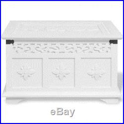 Vintage Wooden Storage Chest White Trunk Box Set Large coffee Table Furniture