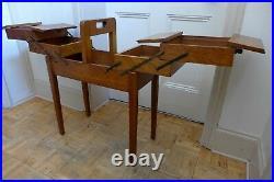 Vintage retro large wooden accordion folding sewing knitting craft stand box B