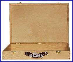 (WA1) Large Wooden SUIT CASE / plain wood wooden suitcase