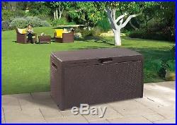 WATERPROOF Garden Storage Box Shed Rattan Patio Cushion Toy Ball Tools Lockable