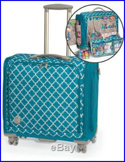 We R Memory Keepers 360 Crafters Bag Trolley Aqua Large Craft Sewing Card Making