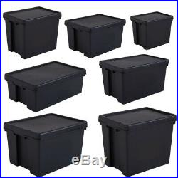 Wham Bam Heavy Duty Plastic Storage Box Boxes With Lids Recycled Upcycled
