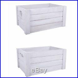 White Grey Wooden Crates Retail Display Shelve Storage Box Gift