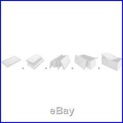 White Storage Bench Large Box Stool Ottoman Seat Modern Stylish Unit Decorative