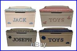 White Toy Box Personalised Extra Large Storage Biggest On Ebay