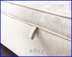 Windsor Cushion Ottoman Hopsack Large Blanket Storage Box Bench Footstool Cream
