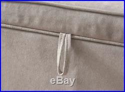 Windsor Cushion Ottoman Large Blanket Chenille Storage Box Bench Stool Silver