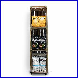 Wooden Crate Crisp Merchandiser Shelving POS Display Shop & Retail (CR8S4)