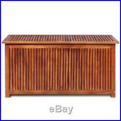 Wooden Deck Storage Box Chest Cusion Toy Tool Shed Waterproof Outdoor Garden