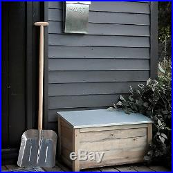 Wooden Garden Storage Box Tools Large Chest Tool Container Garage Outdoor Patio
