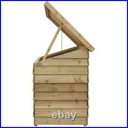 Wooden Garden Storage Chest Outdoor Tools Large Storage Box Container Furniture