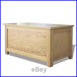 Wooden Ottoman Large Storage Chest Bench Oak Toy Bedding Trunk Cabinet Box New