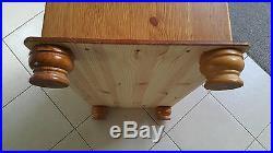 Wooden Storage Box Large Hardwood Furniture Trunk Unit Storage Chest