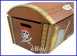 Wooden Storage Trunk Large Treasure Chest Toy Box Hand Painted&Carved HQuality