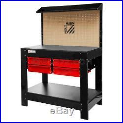 Work Bench Garage Tool Box Storage Diy Workshop Pegboard Holzmann Wt37