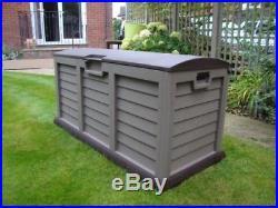 XL Large Plastic Storage Waterproof Deck Box Outdoor Shed Garden Patio Lockable