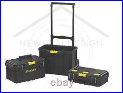 XL Stanley Mobile Work Centre 3 Pieces Storage Tool box On Wheels Handle Dewalt