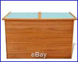XL Wooden Storage Garden Weatherproof Patio Bin Box Chest Outside Pillow Tidy