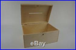 X Large Treasure Chest Wooden Box Lockable Trinket Wedding Cards Storage SO22SZ